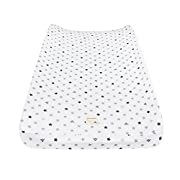 Burt's Bees Baby Print Jersey Changing Pad Cover, Star, 16  x 32
