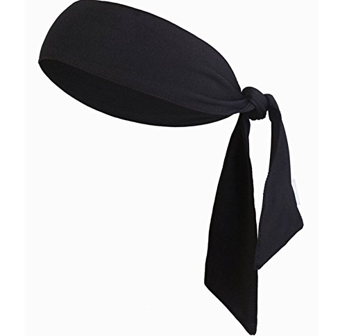 [Sports Headband Mens/Guys Sweatband Fashion Head Wraps Head Scarf, Keep Sweat & Hair out of Face, Head Tie for Workout, Running, Basketball, Tennis, Yoga, Athletics & Pirate Costumes Dry Quickly Black] (Morning After Guy Costume)
