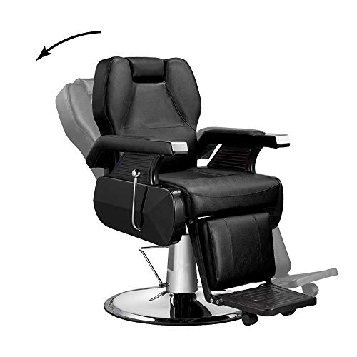 Heavy Duty Hydraulic Recliner Barber Chair Shampoo Salon Beauty Spa Hair Styling BLACK