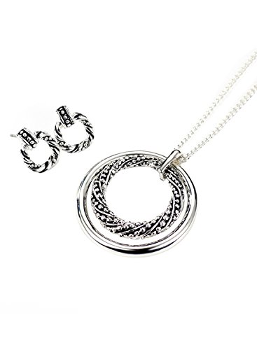 ver Color Round Bali with Twist Necklace Drop Earrings Jewelry Sets for Sensitive Skin ()