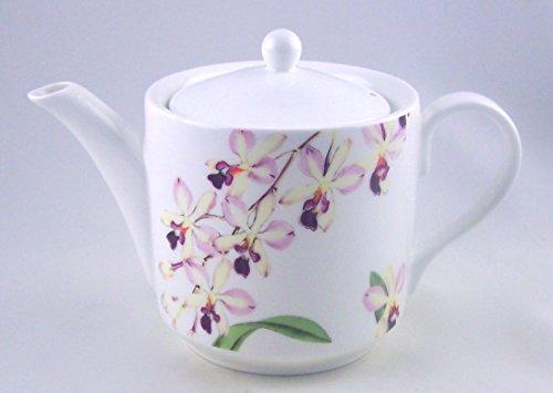 6 Cup Orchid Chintz Teapot - Fine English Bone China - Roy Kirkham, England