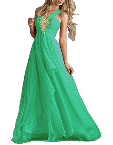 Elegante Lungo Abito Da Festa Cerimonia Damigella Party Chiffon Vestito Emmarcon Verde In Donna z1qSfwqd8