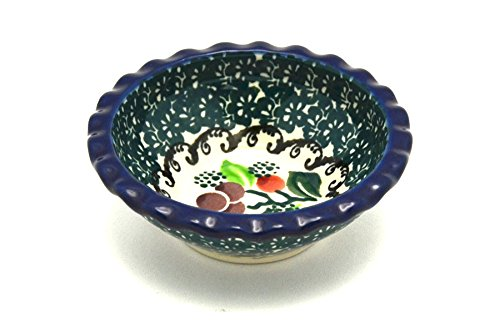 Polish Pottery Dish - Food Prep - Round - Burgundy Berry Green by Polish Pottery Gallery