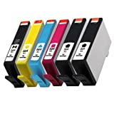 YATUNINK 6 PK Compatible Ink Cartridge Replacement 564XL CN684WN CB322WN CB323WN CB324WN CB325WN combo pack-2Black/1Photo Black/1Cyan/ 1 Magenta/1Yellow