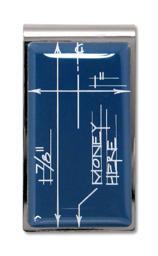 ACME Studios Blueprint Money Clip by Constantin Boym (A2CB01MC) (Acme Roller Ball Pen)