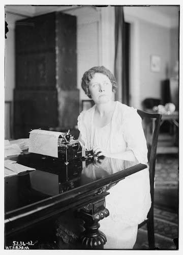 Historic Photographs, LLC Photo: Macbeth,Women,typewriters,Papers,Writing,Tables,Chair,Portrait,Bain News Service