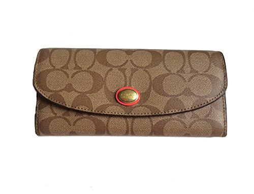 Coach Peyton Signature Envelope Wallet With Pouch - Style 49154