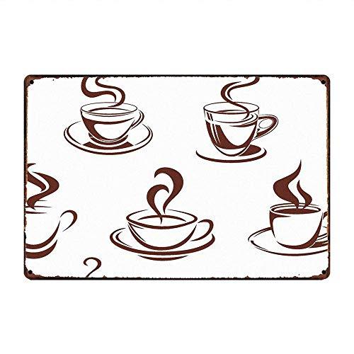 喫茶店 金属板ブリキ看板警告サイン注意サイン表示パネル情報サイン金属安全サイン
