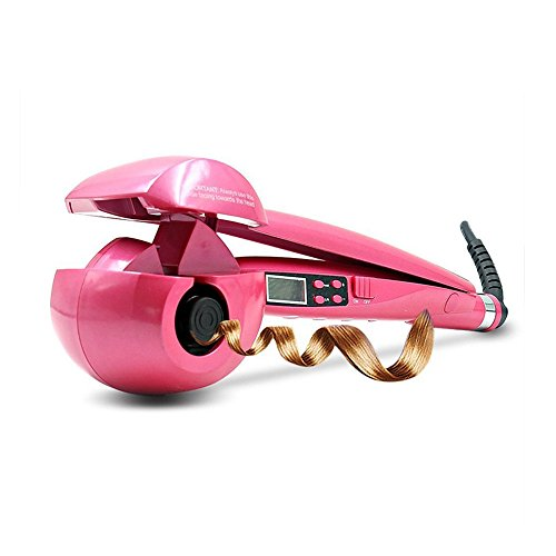 Automatic Hair Curler | Ceramic Heating Hair Curling Wand Long Hair Styling | Magic Deep Waver Hair Curlers Wavy Hair | Girls Hair Curling Iron Curler Beauty Hair Styler LCD Professional Hair (Pink)