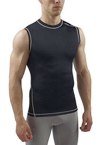 Sub Sports Mens Sleeveless Compression Top Base Layer Tank Top Vest -L (Sleeveless Base)