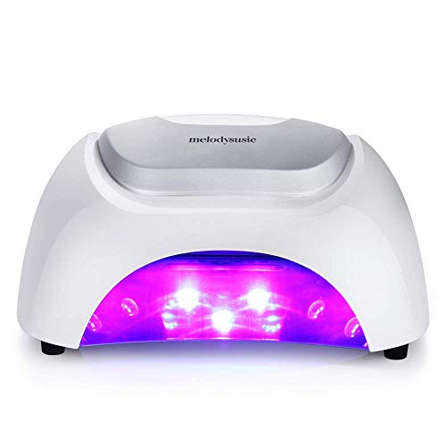 MelodySusie 48W LED UV Nail Lamp - Smart Gel Nail Dryer Mixed LED UV Light Beads Curing All Brands LED UV Gel Nail Polish