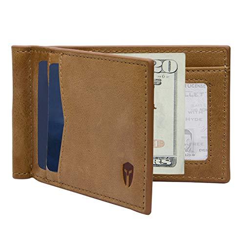 Mens Two Fold Wallet - Minimalist ID Inside (Tan)