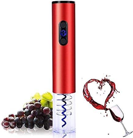 Party Wine Opener Abridor de botellas de vino eléctrico Abridor de vino eléctrico automático de acero inoxidable con cortador de aluminio Anillo de vino Sacacorchos eléctrico para entusiastas del vino