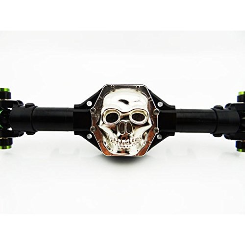Hot Racing WRA12CT08 Metal Skull AR60 Diff Cover (Chrome) - Axial Yeti Wraith AX (Truck Differential Cover Diff)