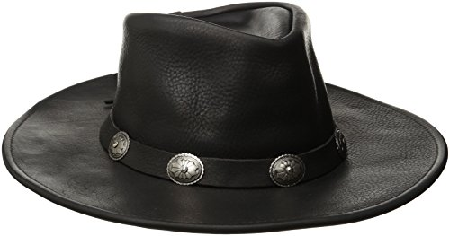 Henschel Walker, Full Grain Leather, Shapeable Brim, Conche Band, Black, X-Large