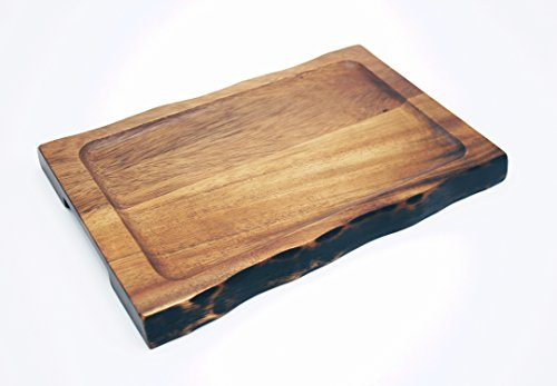 tray  from FAAY it is a 12 x 8 x 1 inch tray made from acacia wood