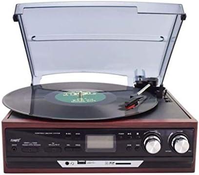 ALIZJJ ターンテーブルレコードプレーヤーのBluetooth/FMプレーヤーヴィンテージレコードプレーヤークラシックブラックヴィンテージスタイル (Color : Red)