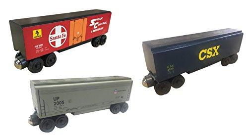 Whittle Caboose - Whittle Shortline Railroad - Manufacturer Big Car Bundle Number 2 Set - Wooden Toy Train