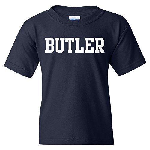 Butler Bulldogs Basic Block Youth T-Shirt - X-Large - Navy