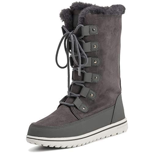 (Polar Womens Tall Snow Warm Calf Waterproof Durable Outdoor Winter Rain Boots - 8 - GRE39 AYC0531)