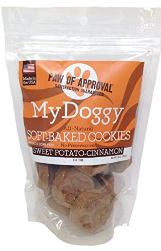 Cinnamon Flavor Small Dog Treats - My Doggy Soft-Baked Cookies Dog Treats - 10 Ounces (Sweet Potato-Cinnamon)