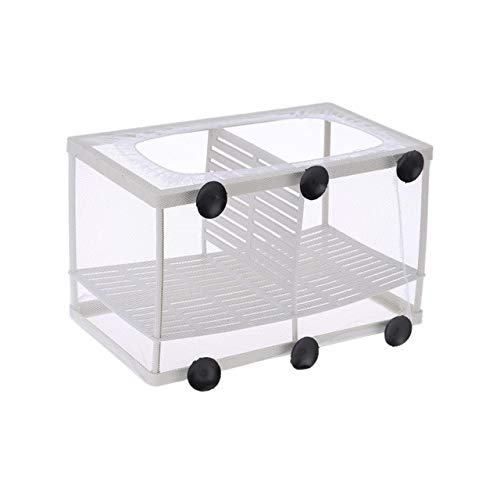 Fish Breeding Net Boxes Aquarium Hatchery Incubator Isolation Box Young Fish Box Hanging Fry Baby Fish   White, XL, United States