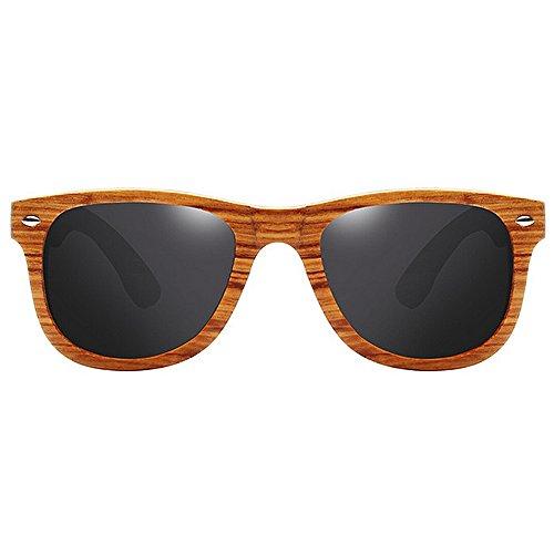 TP Gafas patrón Gray Gray Madera Lente Espejo Tonos Madera de Madera UV400 de de Grano Brillante de de Sol Color Dos de Efecto de rrgdxw