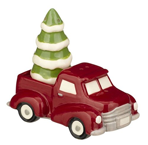 Grasslands Road Pinewood: Holiday Travel Salt & Pepper Shakers Truck and (Halloween Shaker Card)