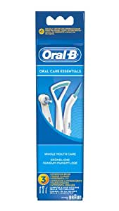 Oral-B - Pack de 3 cabezales para cepillos de dientes recargables - Kit Oral Care essentials IP17