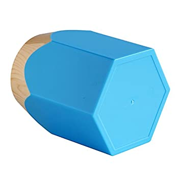 contenitore a bicchiere per penne e matite Portapenne creativo a forma di punta di matita portapenne da scrivania per ufficio Blue