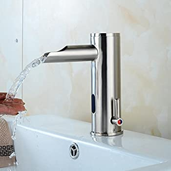 Electronic Automatic Sensor Touchless Bathroom Sink Faucet