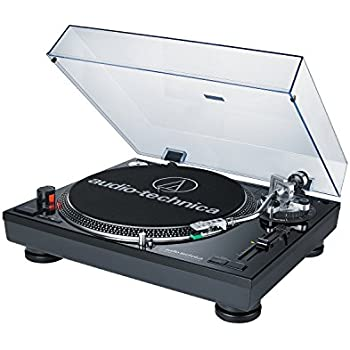 Audio-Technica AT-LP120BK-USB Direct Drive Professional Black DJ Turntable with USB Output (Certified Refurbished)
