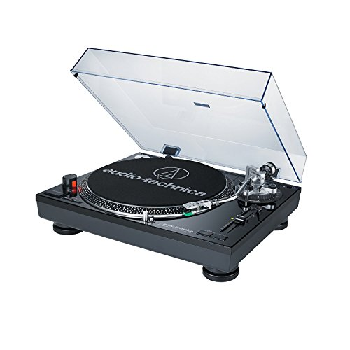 Audio-Technica AT-LP120BK-USB Direct Drive Professional Black DJ Turntable with USB Output (Certified Refurbished) Direct Drive Dj Turntable