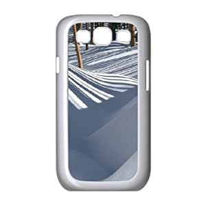 Cases For Samsung Galaxy S3, Shadow Striped Snow Cases For Samsung Galaxy S3, Doah White