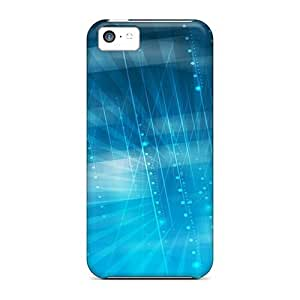 Blue Techno Lines Warp Speed With ipod touch4 PC mobile phone series cover Runing's case