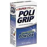 Super Poligrip Denture Adhesive Powder-1.6 oz ( Pack of 4)