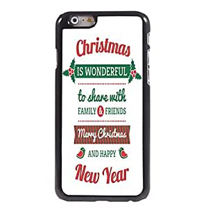 ZXSPACE Merry Christmas Design Aluminum Hard Back Case for iPhone 6