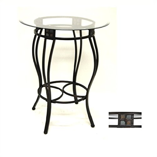Boraam 70416 Beau Metal Pub Table, 36-Inch - Oval Pub Table