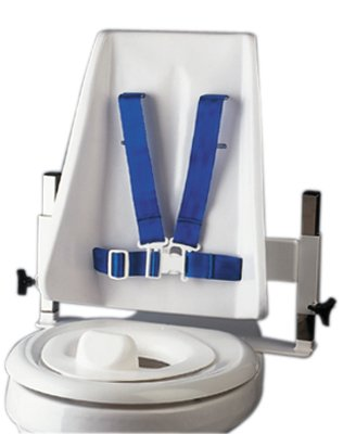 Columbia 45-2231 Toilet Support, High Back H-Brace and Reducer Ring, Regular, Medium, Light