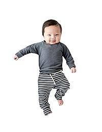 WOCACHI Baby Girls Outfits Set, Long Sleeve Tops Drawstring Pants 2PCS Sets