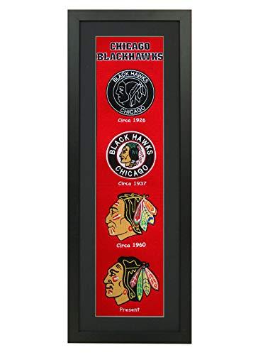 38in Framed - Winning Streak NHL Framed Heritage Banner 14x38 Inches (47003 - Chicago Blackhawks)