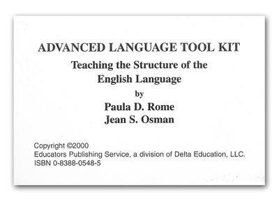 Advanced Language Tool Kit - Cards (Books Set In Baltimore)