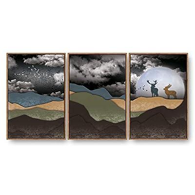 Framed Home Artwork Abstract Nature Landscape for Living...16