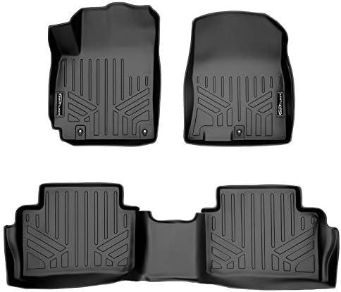 SMARTLINER Custom Fit Floor Mats 2 Row Liner Set Black Compatible with 2018-2022 Hyundai Kona (No Electric Models)