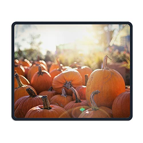 Harvest Pumpkin Mouse Pad Printed Non-Slip Rubber Gaming Mouse Pad Mat for Laptop Computer