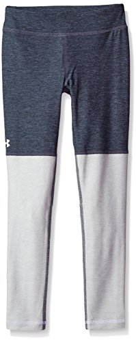 Plush Legging - Under Armour Girls' Elevated Training Plush Leggings,Apollo Gray (962)/White, Youth Medium