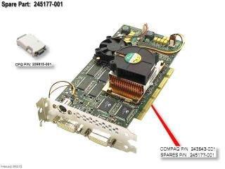 (COMPAQ 245177-001 - Compaq ATI Fire GL4 AGP/ATX Dual-DVI Video Graphics Board Evo Wo )