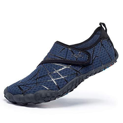 - MEET Men Women Water Shoes Quick Dry Adult Beach Swim Barefoot Lightweight Water Shoes Blue 43
