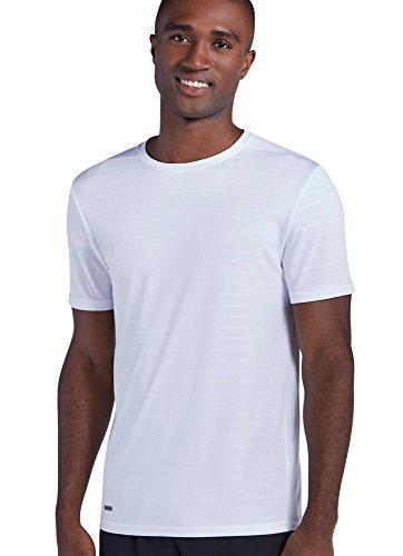 Jockey Men's Sportswear Core Crew Tee, White Stripe, S