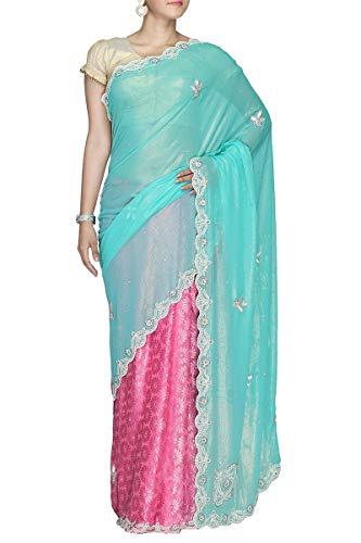 Wear Exclusive Ethnic Designer Saree Brasso Firozi Indian 4HFxZwqH